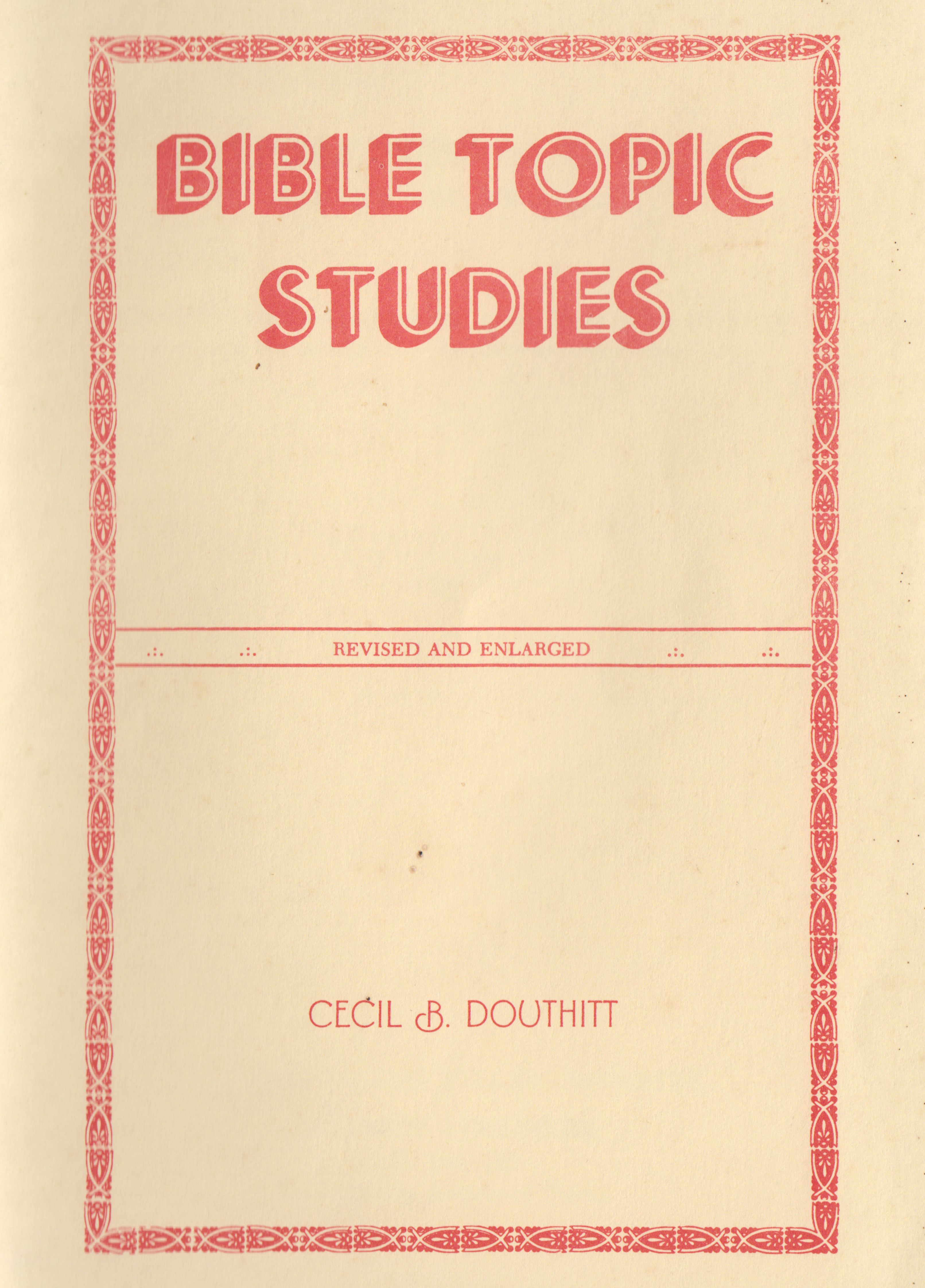 books of the bible by topic
